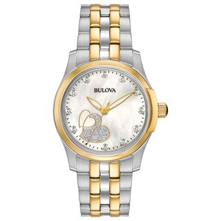 Bulova Women's 98P152 Diamond Heart Two-tone Stainless Bracelet Watch