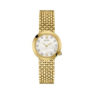 Bulova Women's 97P114 Goldtone Stainless Diamond Dial Bracelet Watch