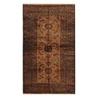 Handmade Herat Oriental Afghan Hand-knotted Balouchi Wool Area Rug - 3'2 x 6' (Afghanistan)