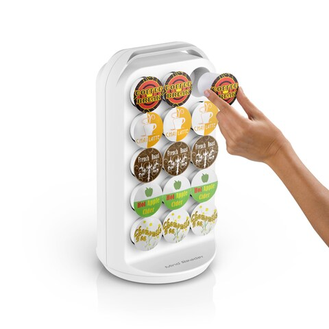 Mind Reader 30 Capacity K-Cup Holder Carousel, White
