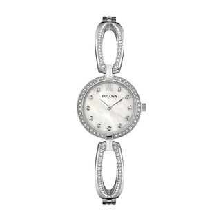 Bulova Women's 96L223 Swarovski Crystal Elements Stainless Bracelet Watch