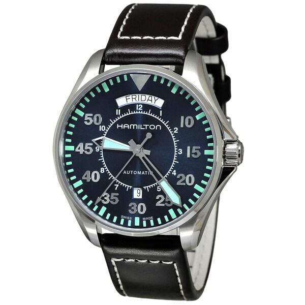 Hamilton Khaki Aviation Men's Blue Dial Watch. Opens flyout.