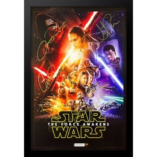 Star Wars:The Force Awakens  - Signed Movie Poster