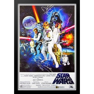 Star Wars A New Hope - Signed Movie Poster