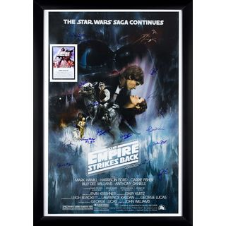 Star Wars - The Empire Strikes Back - Signed Movie Poster