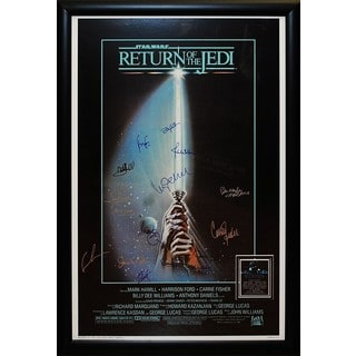 Star Wars Return Of The Jedi Signed Movie Poster