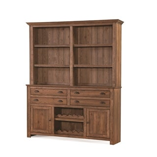 South Mountain Farmhouse Finished Hardwood 2-cabinet 4-drawer Buffet and Hutch