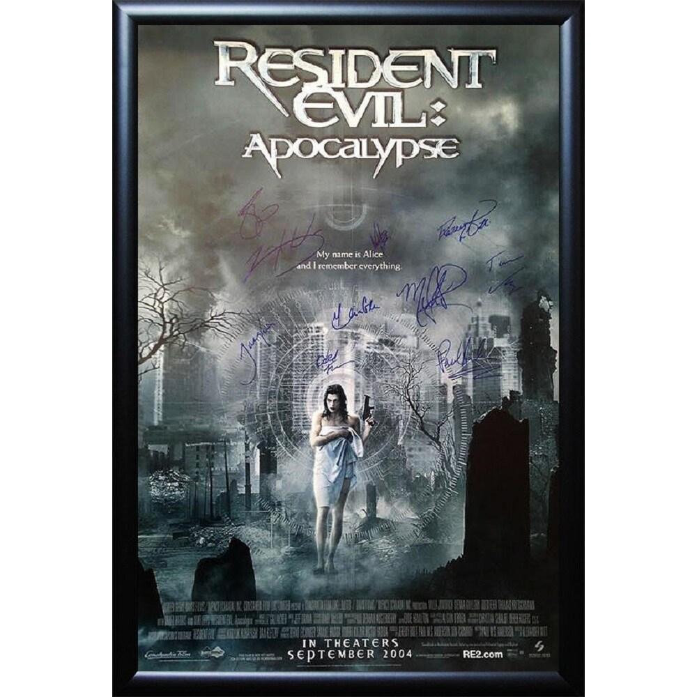 Luxe Resident Evil - Signed Movie Poster (Black), Multi (...