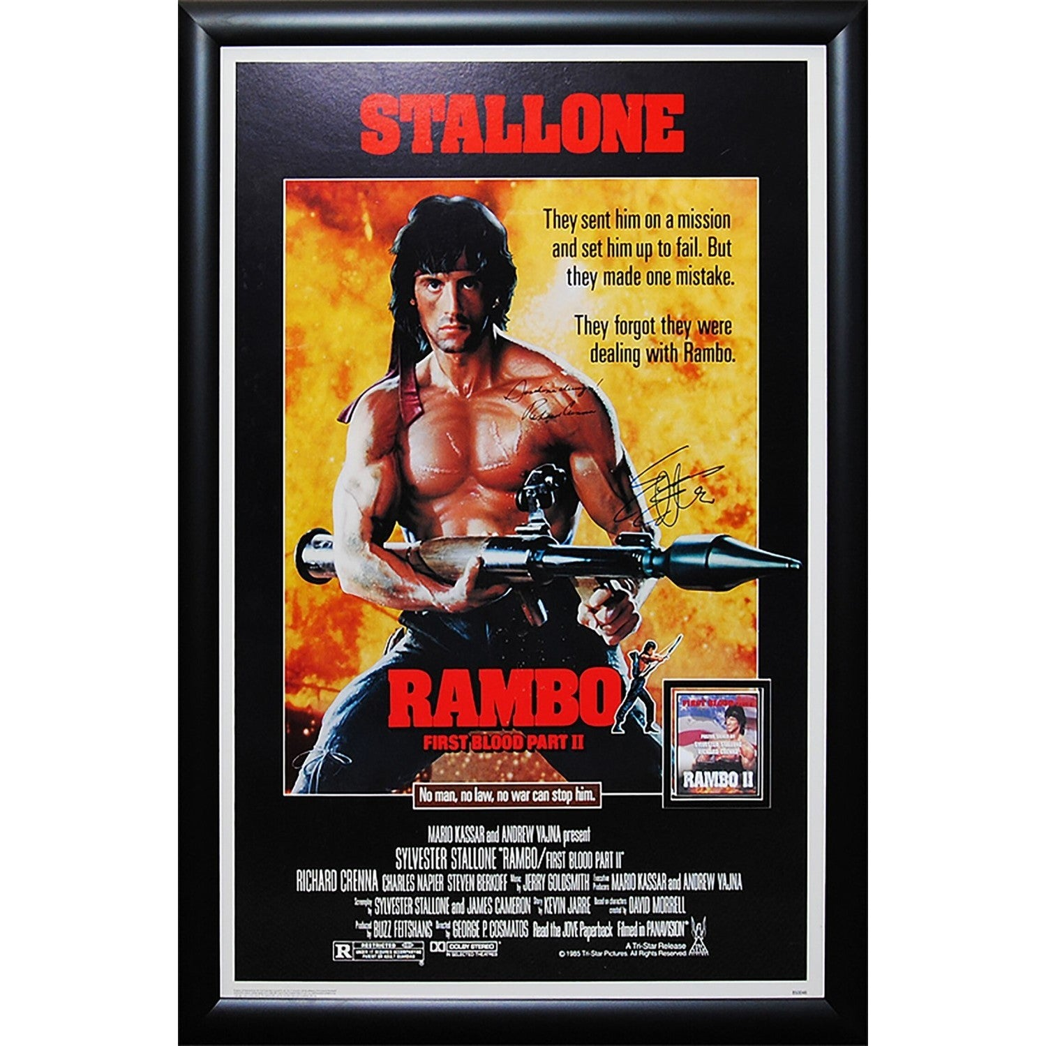 Luxe Rambo - Signed Movie Poster (Black), Multi (Acrylic)