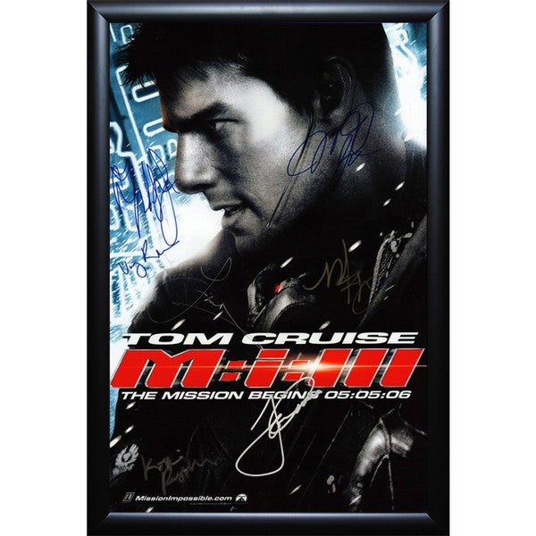Shop Mission Impossible Iii Cast Signed Movie Poster Framed On