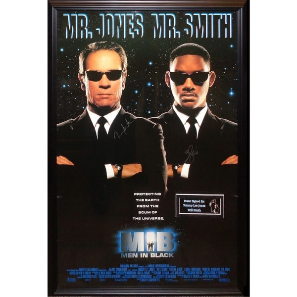 shop men in black signed movie poster free shipping today