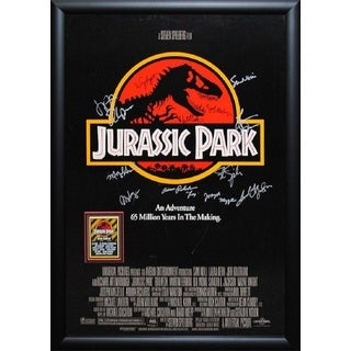Jurassic Park - Signed Movie Poster