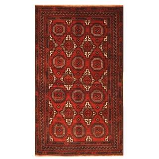 Handmade Herat Oriental Afghan Hand-knotted Balouchi Wool Area Rug (4' x 6'7)
