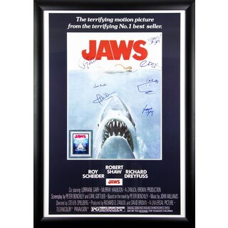 Jaws - Signed Movie Poster