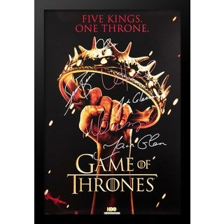 Game of Thrones - Five Kings. One Throne. - Signed Movie Poster