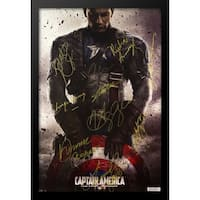 Captain America First Avenger - Signed Movie Poster