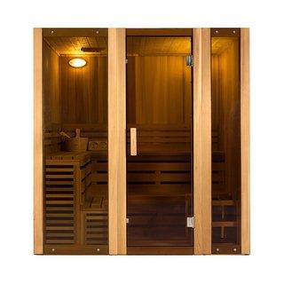 ALEKO 6 Person Indoor Wet Dry Steam Room Sauna with Heater