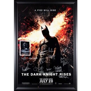 Batman The Dark Knight Rises- Signed Movie Poster
