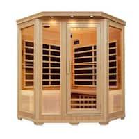 ALEKO 3-4 Person Wood Indoor Dry Infrared Sauna with Heaters