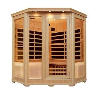 ALEKO 3-4 Person Wood Indoor Dry Infrared Sauna with Heaters