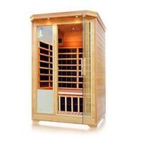 ALEKO 2 Person Wood Indoor Dry Infrared Sauna with Heaters