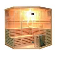 ALEKO 5-6 Person Wood Indoor Wet Dry Sauna with Electrical Heater