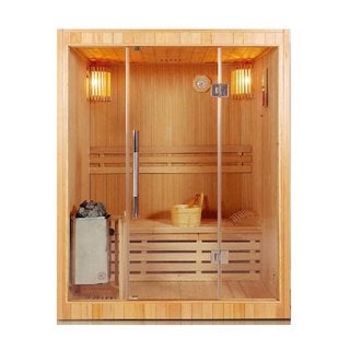 ALEKO 3 Person Wood Indoor Wet Dry Sauna with Electrical Heater
