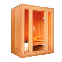 ALEKO 3 Person  Wood Indoor Wet Dry Sauna with Electrical Heater
