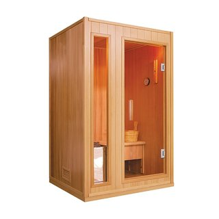 ALEKO 2 Person Wood Indoor Wet Dry Sauna with Electrical Heater