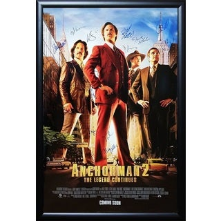 Anchorman 2 - Signed Movie Poster