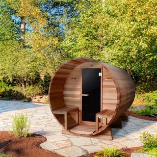 ALEKO 8 Prs Barrel Outdoor Indoor Wet Dry Sauna Front Porch Canopy