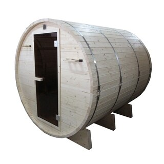 ALEKO 6 Prs Outdoor Indoor Wood Wet Dry Barrel Personal Sauna