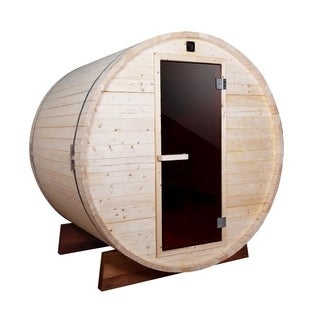 ALEKO 5 Prs Outdoor Indoor Wet Dry Barrel Wood Personal Sauna
