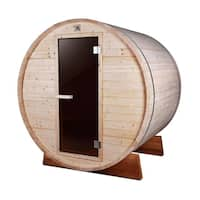 ALEKO 4 Person Indoor Outdoor Wood Barrel Personal Sauna