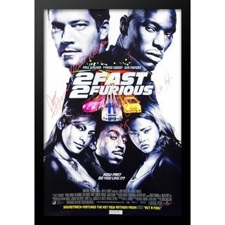 2 Fast 2 Furious Movie Poster - Signed Movie Poster