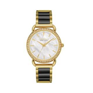 Caravelle NY Women's 44L187 Stainless Two-tone Swarovski Crystal Elements Bezel Bracelet Watch