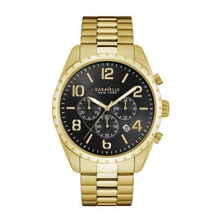 Caravelle NY Men's 44B114 Goldtone Stainless Chronograph Bracelet Watch|https://ak1.ostkcdn.com/images/products/18260071/P24396652.jpg?_ostk_perf_=percv&impolicy=medium
