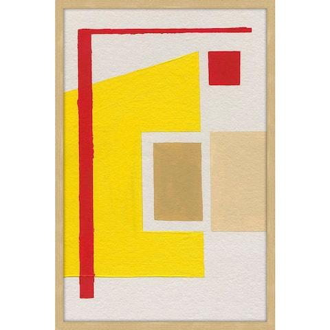 Marmont Hill - Handmade Geometric Design Framed Print