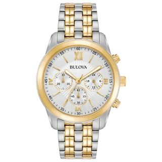 Bulova Men's 98A169 Two-Tone Stainless Chronograph Bracelet Watch|https://ak1.ostkcdn.com/images/products/18260132/P24396658.jpg?impolicy=medium