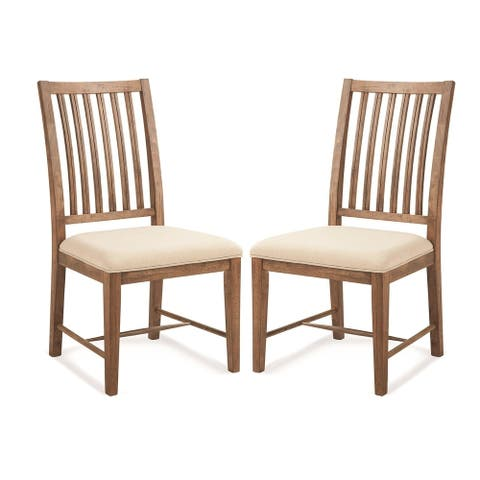 South Mountain Farmhouse Wood Side Chairs (Set of 2)