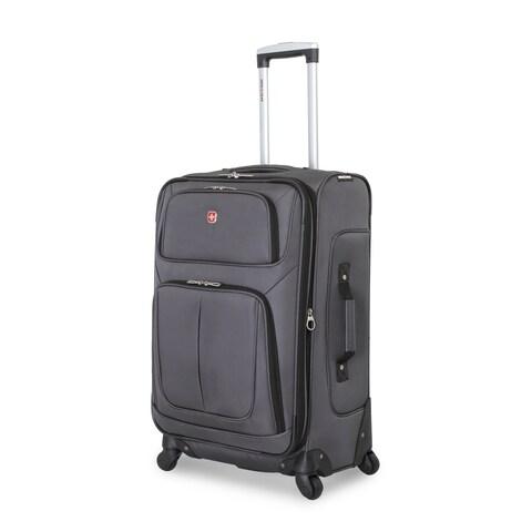 SwissGear Dark Gery 25- inch Lightweight Sofside Spinner Suitcase