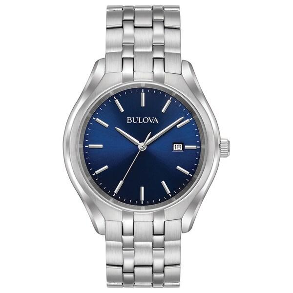 Bulova Men's 96B268 Stainless Blue Dial Bracelet Watch. Opens flyout.