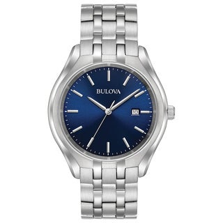 Bulova Men's 96B268 Stainless Blue Dial Bracelet Watch