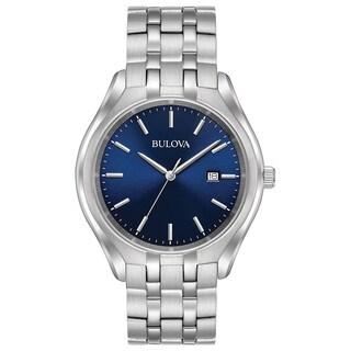 Bulova Men's 96B268 Stainless Blue Dial Bracelet Watch