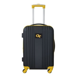 NCAA Georgia Tech Luggage Carry-on 21in Hardcase two-tone Spinner 100% ABS in Yellow