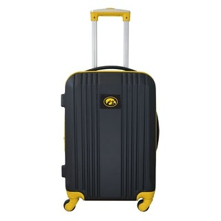 NCAA Iowa Luggage Carry-on 21in Hardcase two-tone Spinner 100% ABS in Yellow