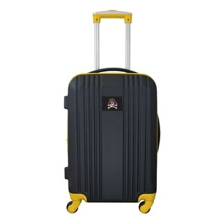 NCAA East Carolina Luggage Carry-on 21in Hardcase two-tone Spinner 100% ABS in Yellow