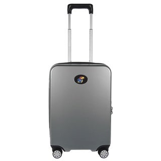 NCAA Kansas Luggage Carry-on 22in Hardcase spinner 100% PC in Gray