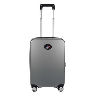 NFL Houston Texans Luggage Carry-on 22in Hardcase spinner 100% PC in Gray