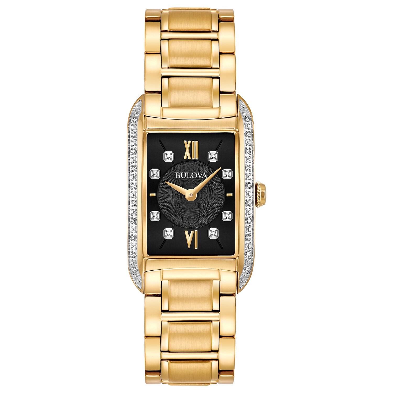 BULOVA Women's 98R228 Goldtone Stainless Diamond Accent B...